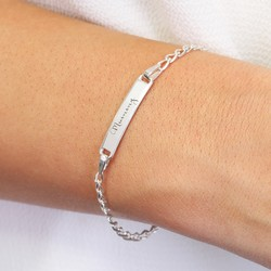 Personalised Sterling Silver Identity Bracelet