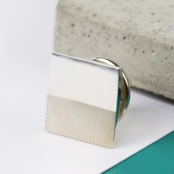 Sterling Silver Square Lapel Pin