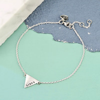 Personalised Sterling Silver Triangle Bracelet