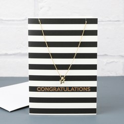 Orelia 'Congratulations' Star Necklace and Gift Card
