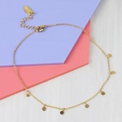 Orelia Delicate Gold Disc Anklet