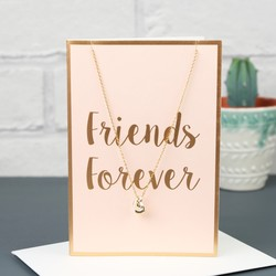 Orelia 'Friends Forever' Heart Necklace and Gift Card