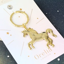 Orelia Gold Unicorn Keyring