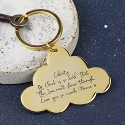 Personalised Orelia Gold Cloud Keyring
