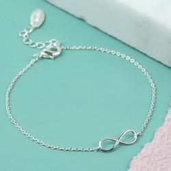 Orelia Delicate Silver Infinity Bracelet