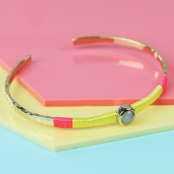 Orelia Labradorite Gem and Thread Summer Bangle