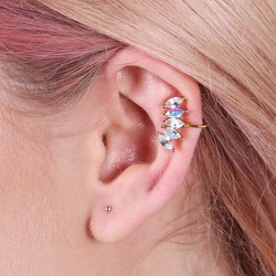 Orelia Crystal Cuff & Stud Earrings