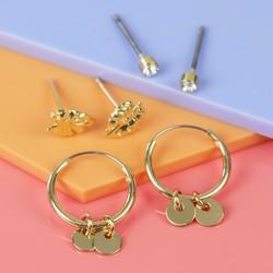 Orelia Set of Three Pairs of Tropical Gold Earrings