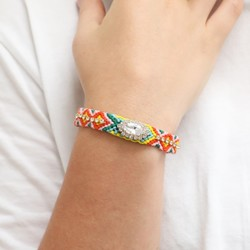 Orelia Woven Crystal Friendship Bracelet