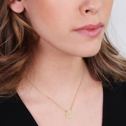 Orelia Crown Chakra Pendant Necklace in Gold