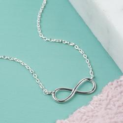 Orelia Delicate Silver Infinity Necklace