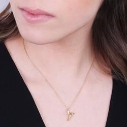 Orelia Hummingbird Necklace in Gold