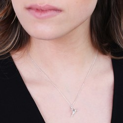 Orelia Hummingbird Necklace in Silver