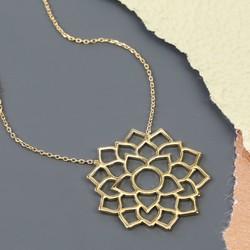 Orelia Large Gold Crown Chakra Pendant Necklace