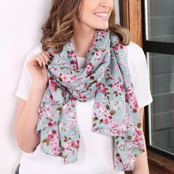 Blossom Pink Spring Flowers Lightweight Scarf