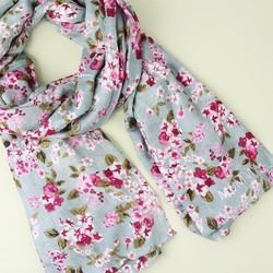Personalised 'Family Since' Spring Flowers Lightweight Scarf