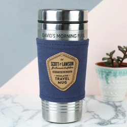 Personalised Scott and Lawson Stainless Steel Travel Mug