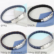Men's Slim Woven Leather Bracelets