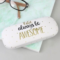 Personalised Sass & Belle 'Always Be Awesome' Glasses Case