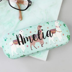 Personalised Sass & Belle Lima Llama Glasses Case