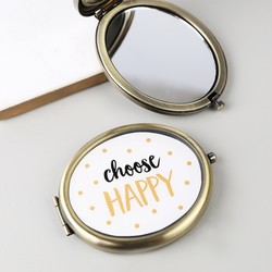Sass & Belle 'Choose Happy' Compact Mirror