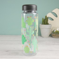 Sass & Belle Colourful Cactus Water Bottle