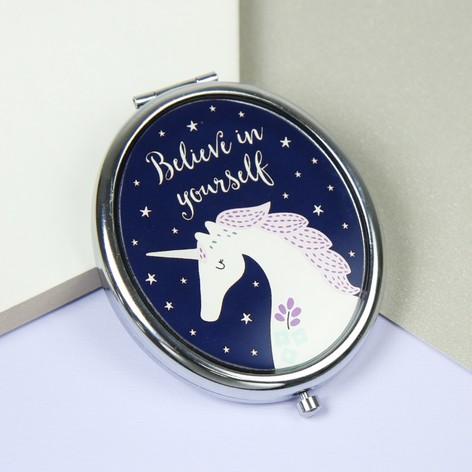 Sass & Belle Starlight Unicorn Compact Mirror