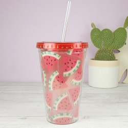 Sass & Belle Watermelon Tumbler and Straw