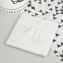Personalised Sass & Belle Marble Weddding Coasters