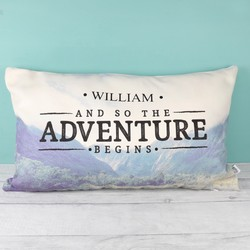 Personalised Sass & Belle 'Adventure' Wanderlust Cushion