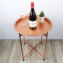 Sass & Belle Round Copper Coffee Table