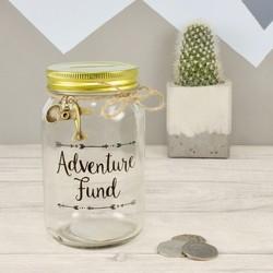 Sass & Belle 'Adventure Fund' Money Jar
