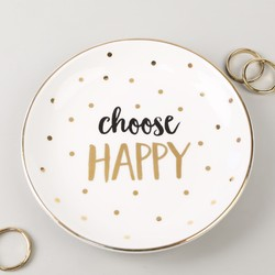 Sass & Belle 'Choose Happy' Ceramic Trinket Dish