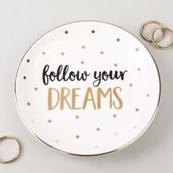 Sass & Belle 'Follow your Dreams' Ceramic Trinket Dish