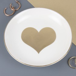 Sass & Belle Gold Heart Ceramic Trinket Dish