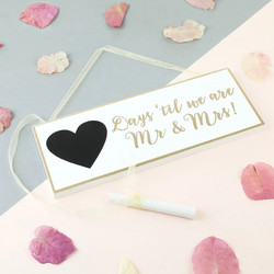 Sass & Belle Gold and White Wedding Countdown Plaque