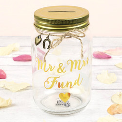 Sass & Belle 'Mr & Mrs Fund' Money Jar