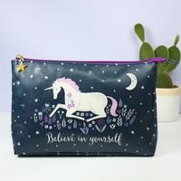 Personalised Sass & Belle Starlight Unicorn Wash Bag