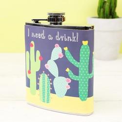 Sass & Belle Cactus Hip Flask