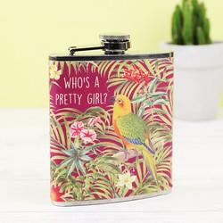 Sass & Belle Parrot Hip Flask