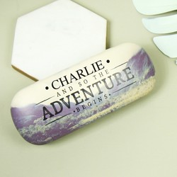 Personalised Sass & Belle 'Adventure' Wanderlust Glasses Case