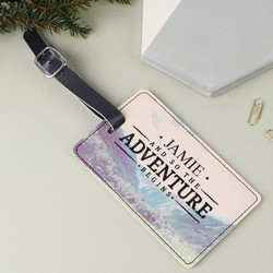Personalised Sass & Belle 'Adventure' Wanderlust Luggage Tag