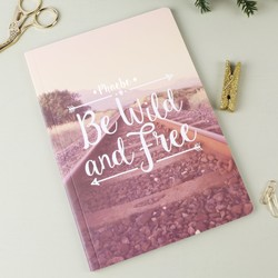 Personalised Sass & Belle 'Be Wild and Free' Wanderlust A5 Notebook