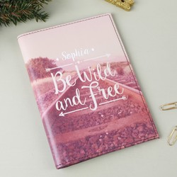 Personalised Sass & Belle 'Be Wild and Free' Wanderlust Passport Holder