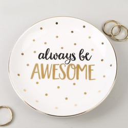 Sass & Belle 'Always Be Awesome' Ceramic Trinket Dish