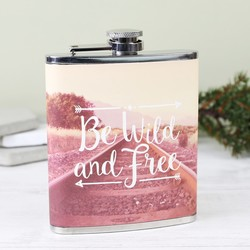 Sass & Belle 'Be Wild and Free' Wanderlust Hip Flask