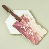 Sass & Belle 'Be Wild and Free' Wanderlust Luggage Tag