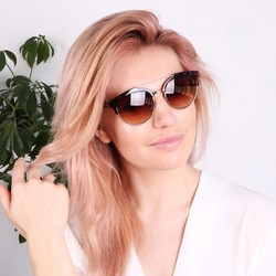 South Beach Round Tortoiseshell Sunglasses