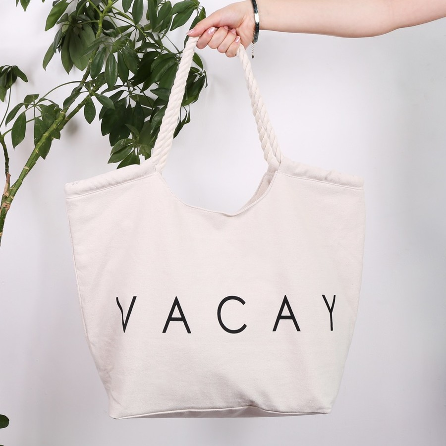 South Beach 'Vacay' Slogan Tote Bag | Lisa Angel