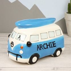 Personalised Ceramic Campervan Money Box
